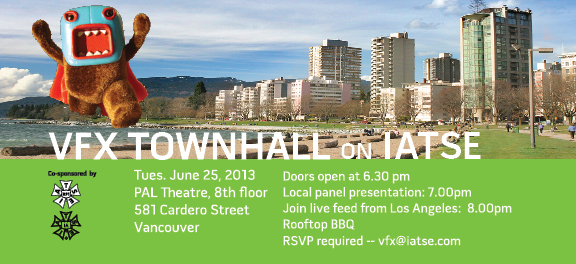 VFX Town Hall on IATSE - Vancouver Edition